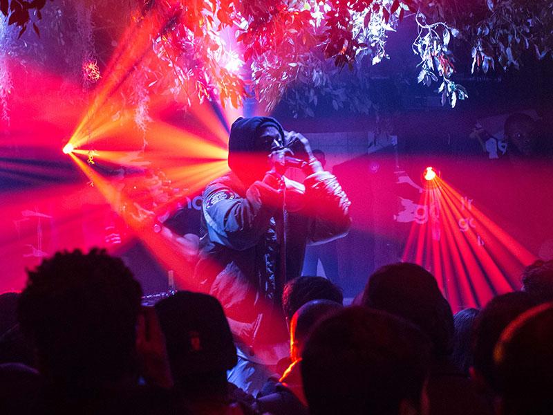 Joey Bada$$ illuminated by Robe Robin Pointe lights