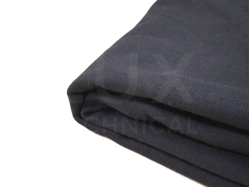 3m x 1m Black Wool Serge Drape Hire