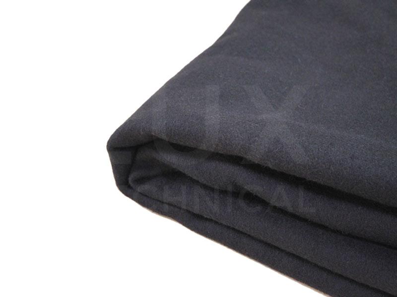 6m x 3m Black Wool Serge Drape Hire