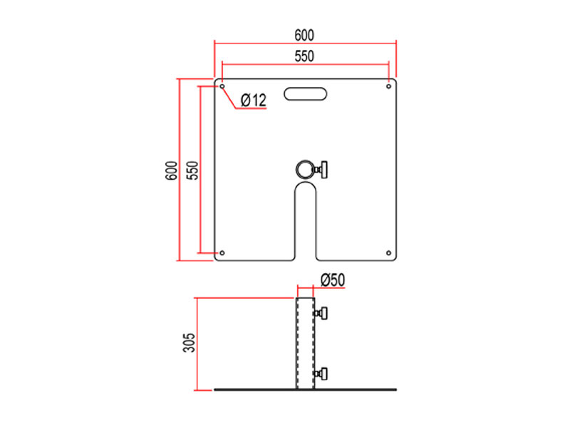 Doughty T54250 Tank Trap Hire Diagram