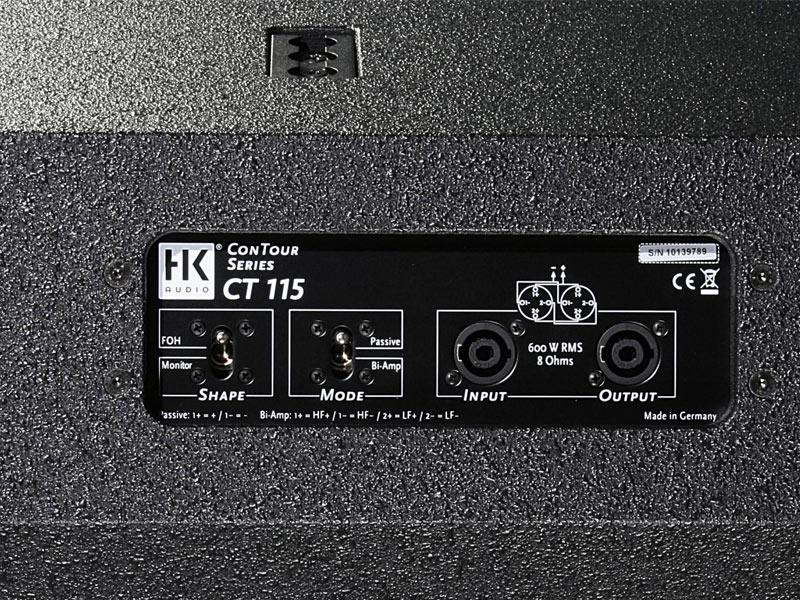 HK Audio Contour CT 115 Rear Connections