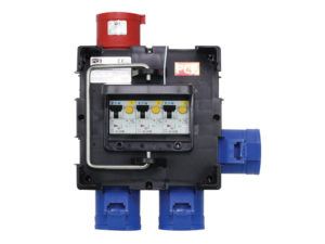 PCE IMST Power Distribution Box 1 x 32A 3P to 3 x 32A 1P Hire