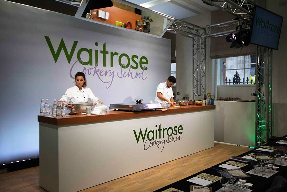 LUX Technical, Waitrose, Food and Drinks Festival, 2016, London, IET Savoy, Showcase, Branding, Public Event, Themed Events, Creative Lighting, Stage Set Up, Live Video, Engagement, Immersive