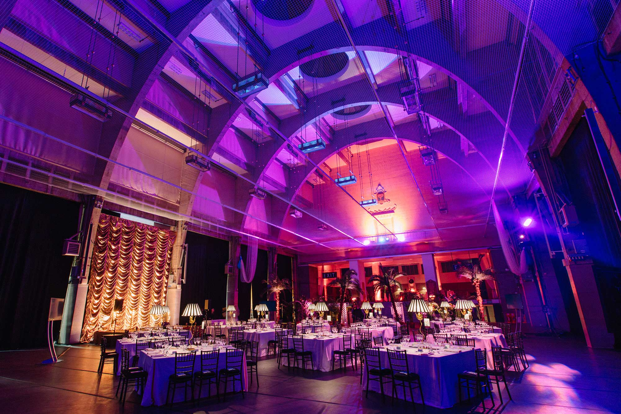 Lux Technical, Lighting, Sound Tech, Annual Gala Dinner, Fundraising Event, Styling, Live Production, Royal Horticultural Halls, London, UK, Story Events, Megan McConnell, Jimmy Garcia Catering